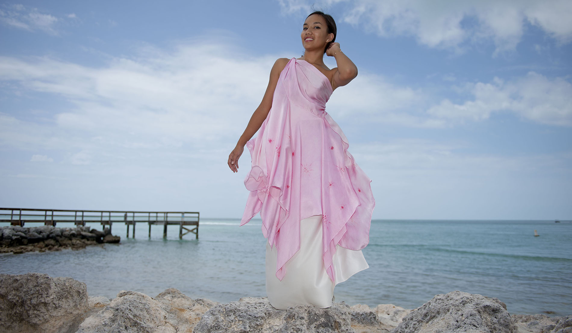 Look Book For Christina Custom Silk Beach Wedding
