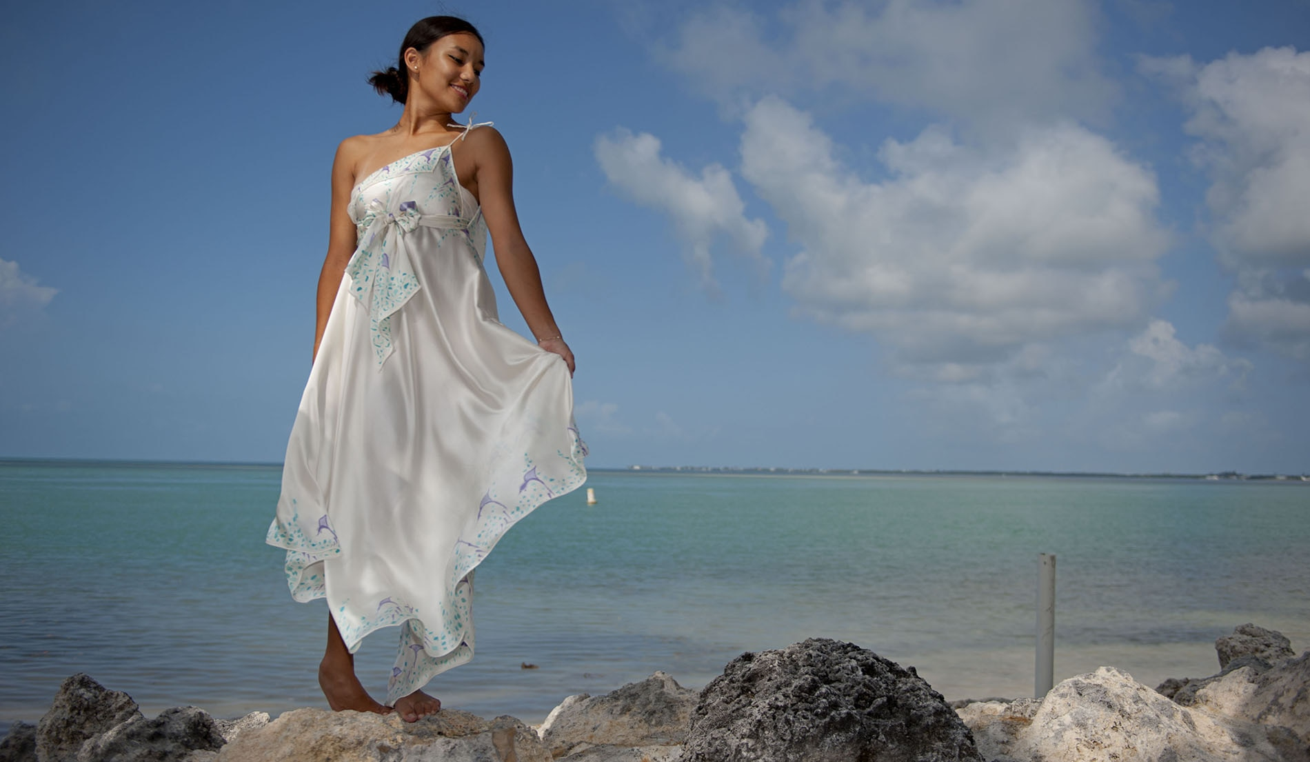 Look Book For Naomi Custom Silk Beach Wedding Dresses