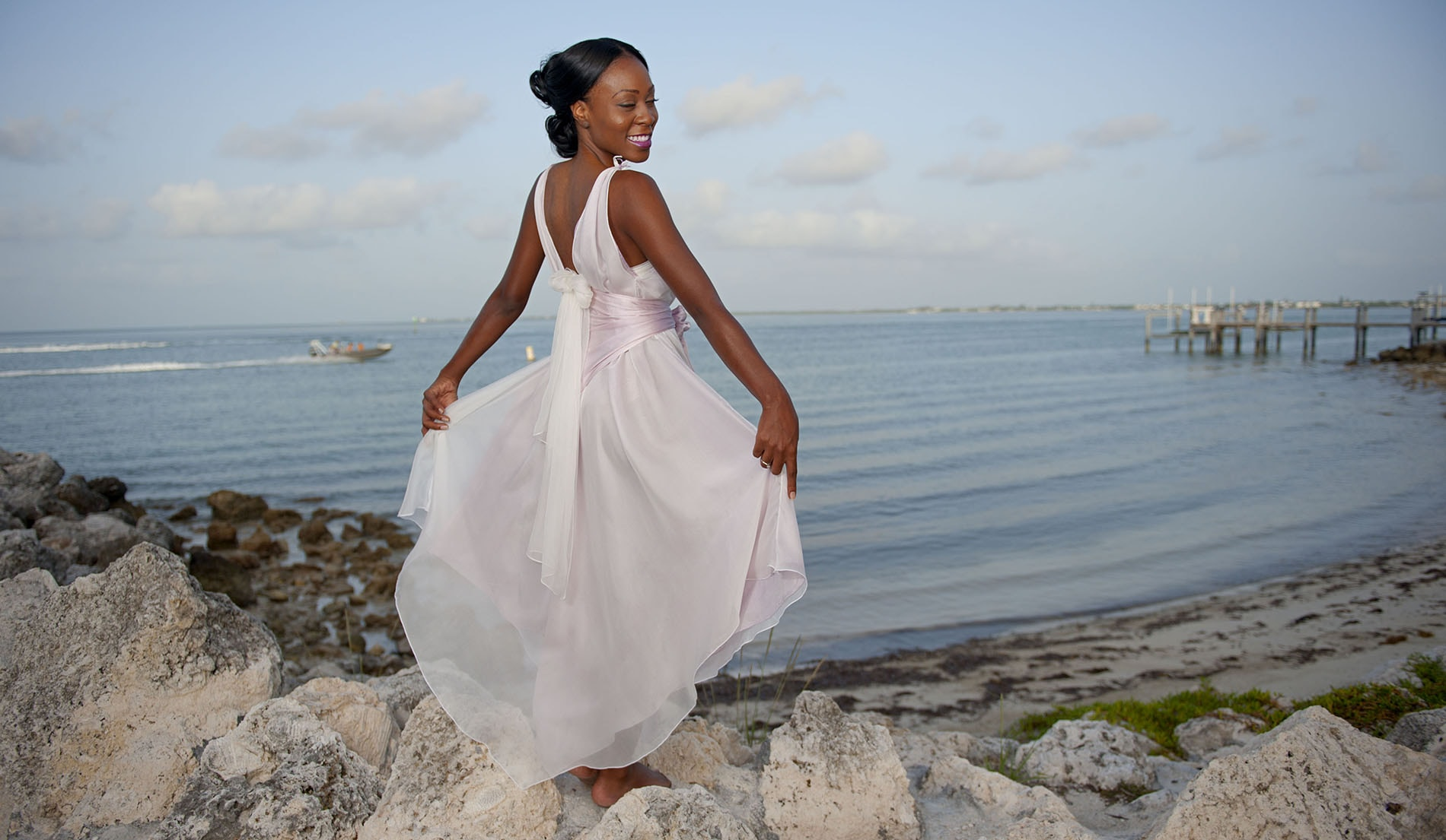 Custom Silk Beach Wedding Dresses