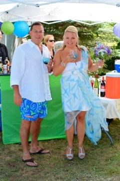 Laura & Gary Celebrating2